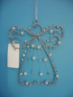 wire angel, looks pretty simple to make and would great on my tree!