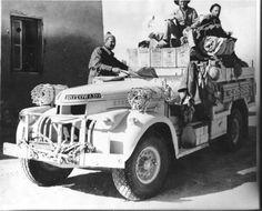 (LRDG) Long Range Desert Group Chevrolet WB 30 cwt Patrol Truck - manned by volunteers from NZ