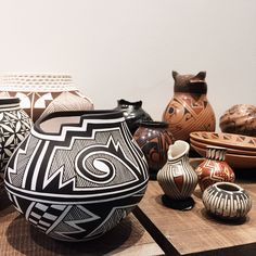 Unique Acoma and Mata Ortiz pottery available in the gallery. Great for gifting and collecting!