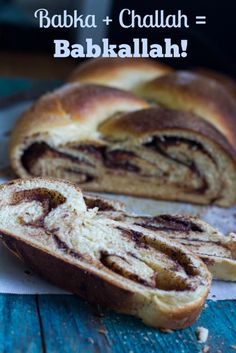 Babkallah is babka + challah! Rich chocolate filling swirled in a buttery challah. From Read Recipe by whatjewwannaeat Kosher Recipes, Cooking Recipes, Cooking Ideas, Drink Recipes, Yummy Recipes, Food Ideas, Recipies, Israeli Food, Israeli Recipes