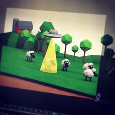 Low Poly Monster Tests by Ryan Boyle, via Behance