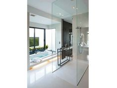 GLASS SHOWER WALL PANEL TIMELESS SYSTEMS LINE BY GLASSOLUTIONS