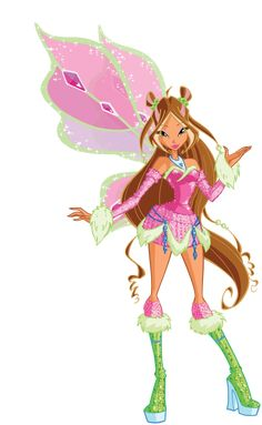 Flora Lovix Render by bloomsama on DeviantArt Winx Cosplay, Monster High Wiki, Les Winx, Flora Winx, Bloom Winx Club, Fantasy Sword, Princess Coloring, Halloween Costumes For Girls, Fairy Land