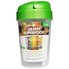 Amazing Grass, Green Superfood Shaker Cup and 7 Flavors of Green Superfood, 1 - 20 oz Cup, 7 Packets (7 g) Each