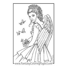 Beautiful Angel Coloring Pages | Beautiful angel pictures | taytay ...