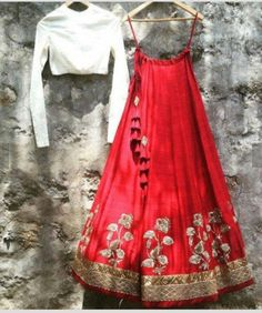 The Stylish And Elegant Lehenga Choli In Red Colour Looks Stunning And Gorgeous With Trendy And Fashionable Embroidery . The Taffeta Fabric Party Wear Lehenga Choli Looks Extremely Attractive And Can . Red Lehenga, Party Wear Lehenga, Indian Lehenga, Lehenga Choli, Lehenga White, Indian Fashion Dresses, Indian Designer Outfits, Indian Outfits, Pakistani Outfits
