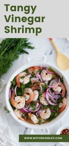 These shrimp are like the southern version of ceviche. This dish is tangy, bright, and delicious! The flavor of the vinegar and onions pairs well with the ocean flavors of the shrimp. They're a fun and unique appetizer to bring to any party! Air Fryer Dinner Recipes, Easy Dinner Recipes, Easy Meals, Shrimp Recipes Easy, Quick Recipes, Instant Pot Pressure Cooker, Pressure Cooker Recipes, Budget Meals, Budget Recipes