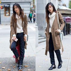 Chuu Coat, Zara Sweater, Chuu Pants