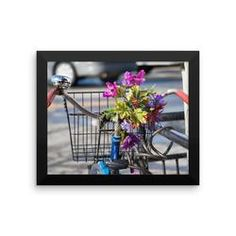 Framed photo paper poster: Bicycle Bouquet