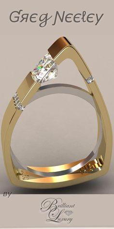 Brilliant Luxury * Greg Neeley North Face Princess Engagement Set