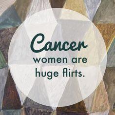 Cancer zodiac sign ♋...not sure I am a huge flirt. I am more awkward haha!