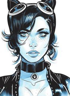 Catwoman by Mel Milton * Batgirl, Batman Und Catwoman, Catwoman Cosplay, Cosplay Gatúbela, Catwoman Makeup, Anime Cosplay, Comic Book Characters, Comic Character, Comic Books Art