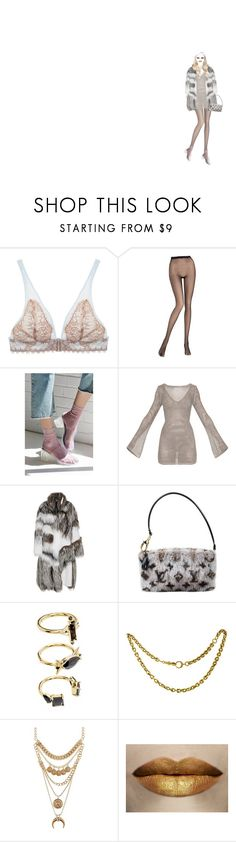 """""""classic"""" by acid-angels ❤ liked on Polyvore featuring VALERY, Pierre Mantoux, Out From Under, Prabal Gurung, Louis Vuitton, Noir Jewelry and Charlotte Russe"""