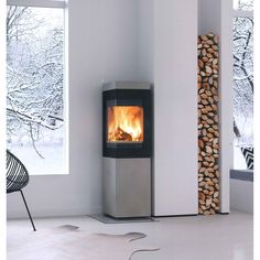Inspiration / Home - Nordpeis Odense, Pisa, Corner Gas Fireplace, Colorado, House On Wheels, House Rooms, Valentines Day For Him, Hearth, Interior Architecture