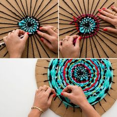 Follow this tutorial to create a circular weave.