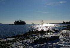 Crescent Beach, Owls Head, Maine... 19°F day