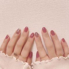 Make an original manicure for Valentine's Day - My Nails Stylish Nails, Trendy Nails, Cute Nails, Korean Nail Art, Korean Nails, Nail Swag, Pink Nails, Gel Nails, Nail Polish