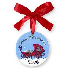 Personalized Carriage Baby Ornament for New Parents - Ornament Reviews