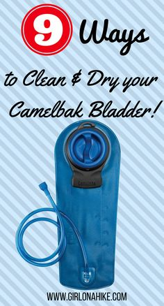 9 Ways to Clean & Dry Your Camelbak Bladder Use a water bladder on your hike? To avoid waterborne illness, keep it clean: 9 Ways to Clean & Dry Your Camelbak Bladder Solo Camping, Camping And Hiking, Camping With Kids, Camping Meals, Family Camping, Outdoor Camping, Camping Hacks, Camping Stuff, Camping Cabins