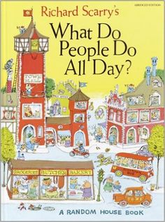 """BERG's Matt Jones hazards a guess at the future of work in this hypothetical future Richard Scarry book-cover. Richard Scarry's """"What Do Robots Do All Day? Richard Scarry, Best Books To Read, Great Books, My Books, Old Children's Books, Vintage Children's Books, Children's Literature, In Kindergarten, Childhood Memories"""