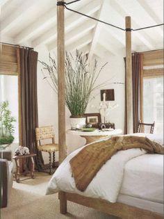 Rustic and naturals bedroom