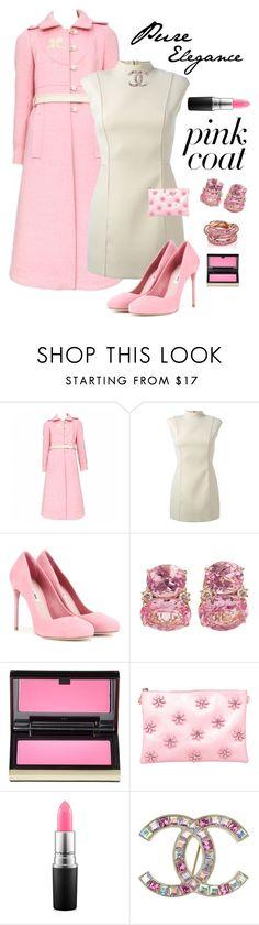 """Pink Elegance"" by kotnourka ❤ liked on Polyvore featuring Courrèges, Maison Margiela, Miu Miu, Christina Addison, Kevyn Aucoin, Vieta, MAC Cosmetics, Chanel and SPINELLI KILCOLLIN"