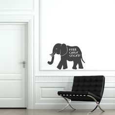 Elephant Chalkboard Sticker (Pack of 3) Need to leave notes or write errands but don't want to make the wall dirty or the fridge full of sticking magnets? Try these chalkboard and experience the convenience of easy writing and wiping messages from different surfaces in your house. As long as you have dry and smooth surface on the walls or furniture, you can easily stick the chalkboard stickers where you can write notes using a piece of chalk! http://walliv.com/elephant-chalkboard-sticker