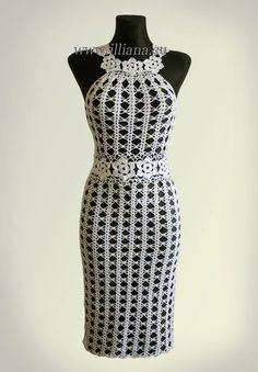 Dress. Crochet Pattern No 230 by Illiana on Etsy