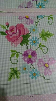 Cross-stitch examples and templates, You can make really specific styles for materials with cross stitch. Cross stitch designs may nearly impress you. Cross stitch newcomers could make the designs they need without difficulty. Cross Stitch Letters, Cross Stitch Heart, Cross Stitch Borders, Cross Stitch Samplers, Modern Cross Stitch, Cross Stitch Flowers, Cross Stitch Designs, Cross Stitch Embroidery, Stitch Patterns