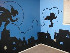 """""""I bless God every chance I get; my lungs expand with his praise. I live and breathe God. Teal Baby Rooms, Baby Room Diy, Yellow Nursery, Baby Boy Rooms, Peter Pan Bedroom, Peter Pan Nursery, Disney Themed Rooms, Disney Rooms, Peter Pan Decor"""