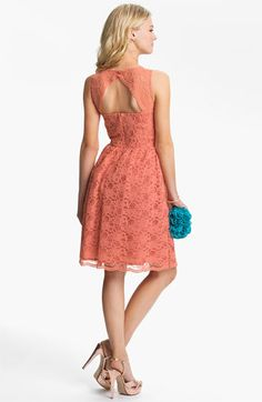 Calvin Klein Sleeveless Lace Fit & Flare Dress available at #Nordstrom