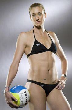 33-year old Kerri Walsh-Jennings, who with teammate Misty May-Treanor were the gold medalists in beach volleyball at both the 2004 and 2008 Summer Olympics, and are poised to repeat gold at the London 2012 Olympics, is regarded as on of the hottest female Olympians competing this year.