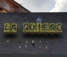 """28 Me gusta, 2 comentarios - Carmen Gila (@cgilamalo) en Instagram: """"LA QUIERO #arteurbano #urbanart #barcelona #spain #españa #quotes #frases"""""""