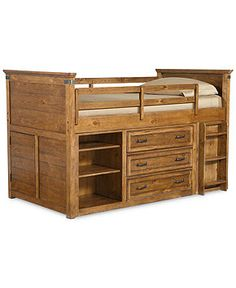 hopefield kids mid loft twin bed with storage kids furniture furniture casa kids furniture