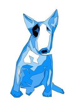 ENGLISH BULL TERRIER BLUE DOG POP ART POSTER 30 X 20 INCHES BRAND NEW GIFT