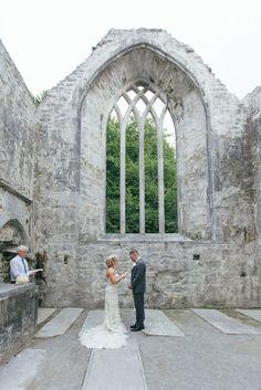 Irish wedding ceremony Elopement Elope to Ireland Abbey ruins Ireland Get married in Ireland