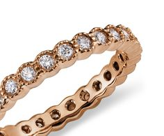 Burnished Diamond Eternity Ring in 14k Rose Gold #BlueNile