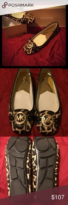 🎉HP🎉 Michael Kors calf hair moccasins Authentic Michael Kors women's size 11 calf hair cheetah print Fulton moccasins. Comes with original box. No tags, no receipt. I bought them on michaelkors.com 6 months ago and wore a few times. They are super comfortable! The shoes show some signs of wear (see pics). ❌ No trades! ❌ Michael Kors Shoes Flats & Loafers