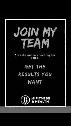Join our fantastic team and get your first 3 weeks of training absolutely free. A program that is specifically designed and tailored to your lifestyle and goals. Get healthy today!!! Email;   josh@jbfitnessandhealth.com 3 In One, 3 Weeks, Get Healthy, Coaching, Health Fitness, Join, Training, Goals, Photo And Video