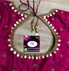 Wedding Saree Blouse Designs, Best Blouse Designs, Simple Blouse Designs, Stylish Blouse Design, Silk Saree Blouse Designs, Dress Neck Designs, Mirror Work Blouse Design, Maggam Work Designs, Coin Design
