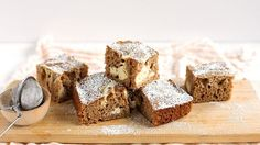 These seven-ingredient carrot cake bars are super easy and insanely delish, thanks to a generous swirl of cream cheese in the batter!