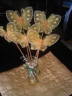 como hacer mariposas de tela - Google Search