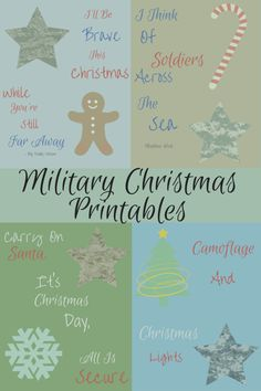 Military Christmas Printables- remember our men and women overseas this holiday season.