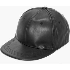 NEU Ledermütze Leder Cap Mütze Baseballmütze Leather Basecap Hat