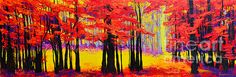 Deep Within - Enchanted Forest Collection - Modern Impressionist Landscape Art - Beautiful colorful wall art for your home decor by Patricia Awapara Beautiful Paintings Of Nature, Nature Paintings, Landscape Paintings, Landscapes, Colorful Wall Art, Colorful Paintings, Impressionist Landscape, Abstract Landscape, Forest Sketch