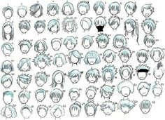 Hairstyles; How to Draw Manga/Anime