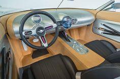 BMW-owned MINI and Italian coachbuilder Touring Superleggera have teamed up to create the MINI Superleggera Vision concept sports car. Custom Car Interior, Morris Minor, Interior Sketch, Car Hacks, Smart Car, Dream Garage, British History, Custom Cars, Concept Cars