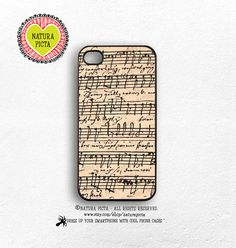 Vintage music sheet Bach iphone case 4/4SVintage by naturapicta © NATURA PICTA All Rights Reserved