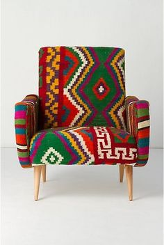 Statement Chair...festive, fun, and funky