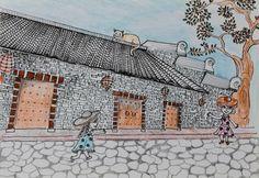 #hakka , #Nanjing Hakka Tulou , #littlehakka , #china , #ancientchina #vintage , #vintageinspired , #illustration
